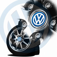 Sticker jante vw