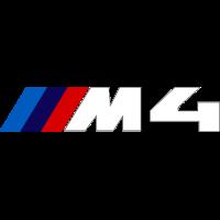 Sticker BMW M4 Blanc