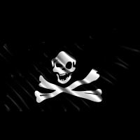 Autocollant Drapeau Pirates