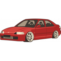 Sticker HONDA Civic (2)