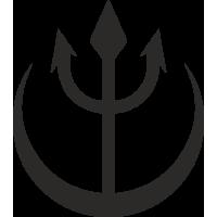 Sticker Trident Bateau