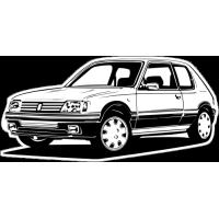 Sticker PEUGEOT 205 Car