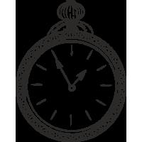 Sticker Horloge Vintage 2
