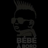 Sticker Bébé à Bord Punk