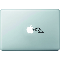 Bonhomme Pousse Pomme - Sticker Macbook