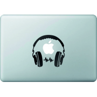 Casque Audio - Sticker Macbook 1
