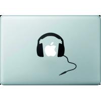 Casque Audio - Sticker Macbook 2