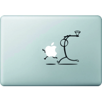 Bonhomme Hache Pomme - Sticker Macbook