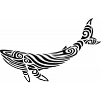 Sticker Baleine Tribal