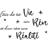 Sticker Citation Fais de ta Vie un Rêve