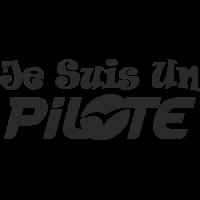Sticker Je suis un Pilote