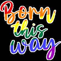 Sticker Born this Way Pride