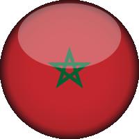Autocollant Drapeau Maroc rond 2