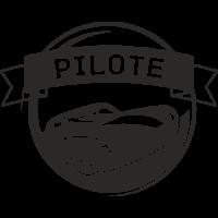 Sticker Déco Baril Pilote voiture