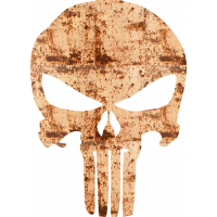 Sticker Punisher Rouille