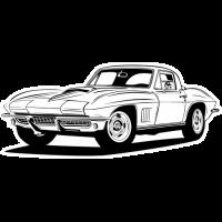 Sticker CHEVROLET CORVETTE Car