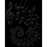 Sticker mural Notes Musique 2