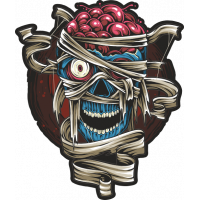 Stickers Halloween Crane Skull Zombie