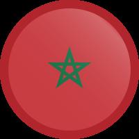 Autocollant Drapeau Maroc rond bouton