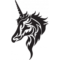Sticker Licorne Tribal