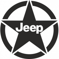 Sticker Etoile US Jeep 2