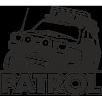 Sticker 4x4 nissan patrol offroad