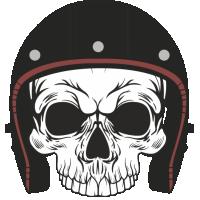 Sticker Skull Helmet