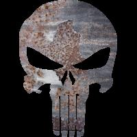 Sticker Punisher Rouille Métal 2