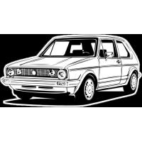 Sticker VOLKSWAGEN GOLF Car 1