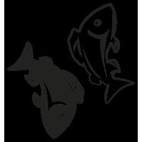 Sticker Signe du Zodiaque Poisson