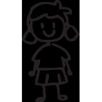 Sticker Famille Petite Fille 3