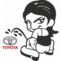 Autocollant Piss Girl Toyota