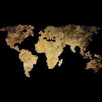 Sticker Monde Mappemonde Globe Grunge 2