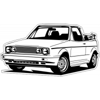 Sticker VOLKSWAGEN GOLF Car 2