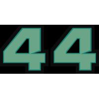 Sticker Lewis Hamilton 44