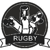Sticker Déco Baril Rugby