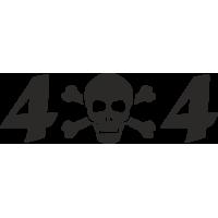 Sticker 4x4 Skull tête de mort