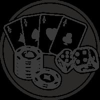 Sticker Déco Baril Joueur cartes