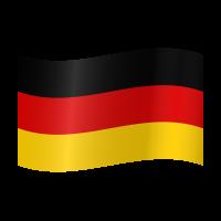 Autocollant Drapeau allemand 2