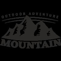 Sticker Montagnes Adventure 3 Déco