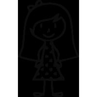 Sticker Famille Petite Fille 2