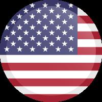 Autocollant Drapeau américain rond bouton