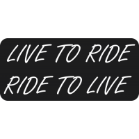 Sticker Moto LIVE TO RIDE