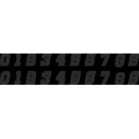 Planche Sticker Chiffres N°6