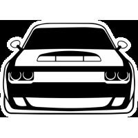 Sticker DODGE Challenger (3)
