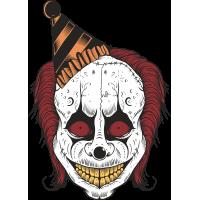 Autocollant Clown Peur