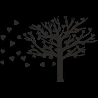 Sticker Arbre coeur