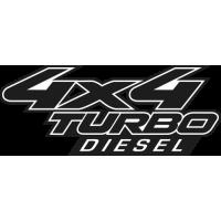 Sticker 4x4 Turbo diesel 2