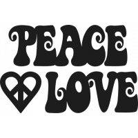 Sticker Peace and Love Groovy