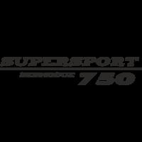 Sticker Ducati 750 Supersport GAUCHE
